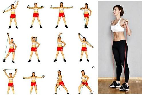 Упражнение с эспандером восьмерка для женщин в домашних условиях 803