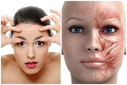 проработка мышц лица