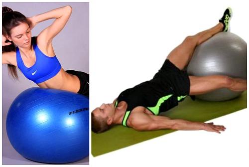 гиперэкстензия и поднимание ног