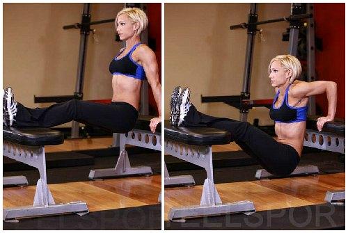 Упражнения на трицепс женщине в домашних условиях