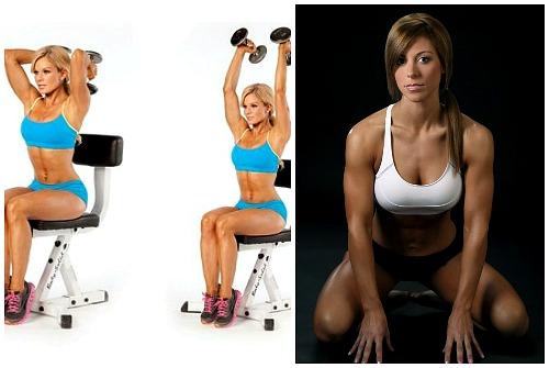 упражнения на стуле с гантелями и без