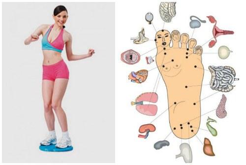 одновременный массаж ног