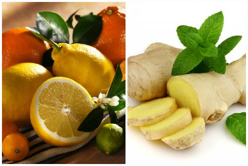 цитрусовые и имбирь