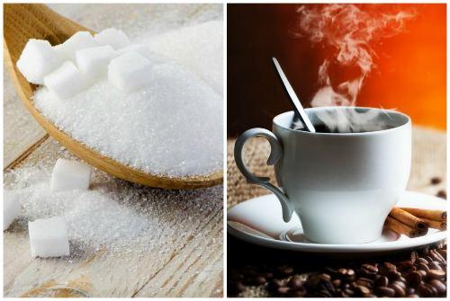 Сахарный песок и кофе