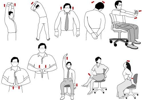 простые упражнения для офисного работника