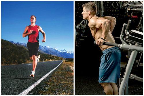 Бег и отжимания на брусьях - простые базовые упражнения