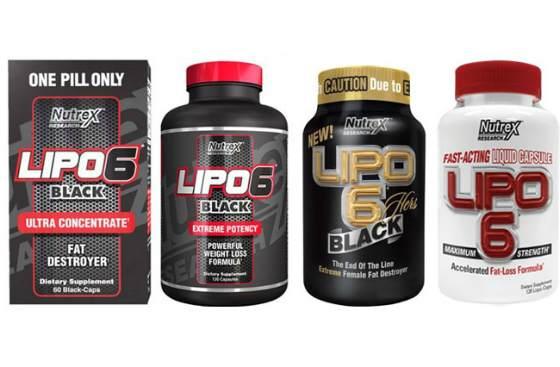 Неполный набор жиросжигателей lipo-6