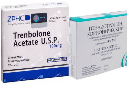Trenbolone Acetate + Гонадотропин