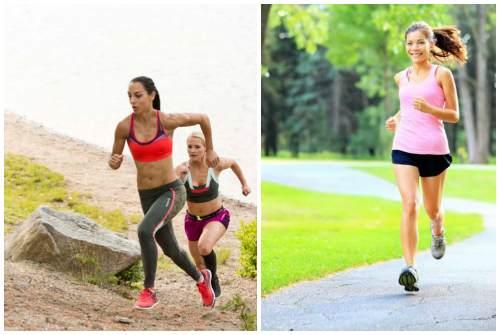 бег по разной местности