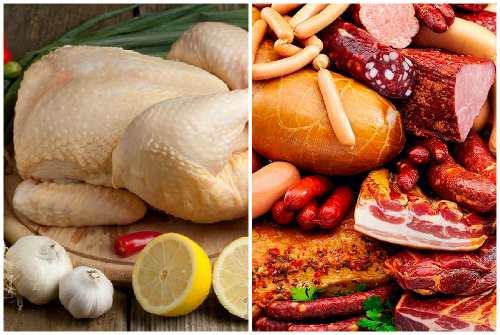 Мясо с гормонами и копчености