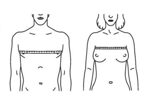 обхват груди женщины и мужчины