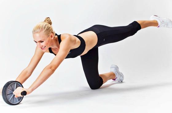 упражнение с гимнастическим колесом