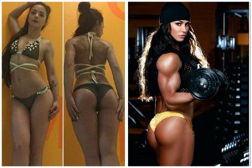 Фото до и после тренировок