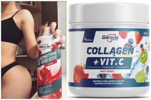L-карнитин и Collagen Plus
