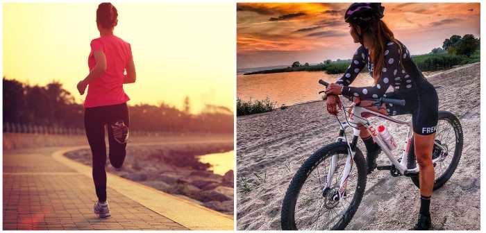 Бег и езда на велосипеде