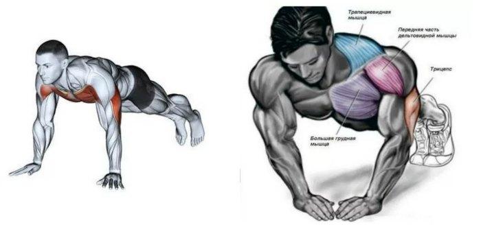 """Разница в работе мышц классической и """"алмазной"""" техники"""