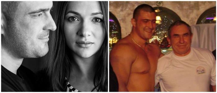 Андрей Пушкарь с женой и отцом