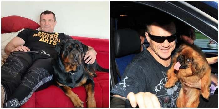 Кро Коп со своими любимыми собаками