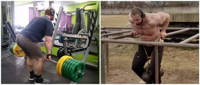Андрей Смаев на тренировке